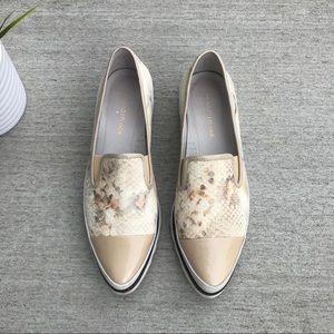 Donald J Pliner Beliz Leather Slip On Shoes Loafer